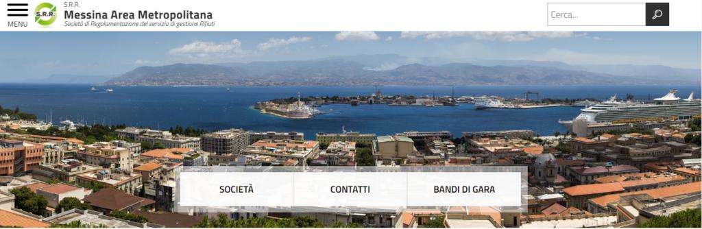 Home page della società partecipata S.R.R