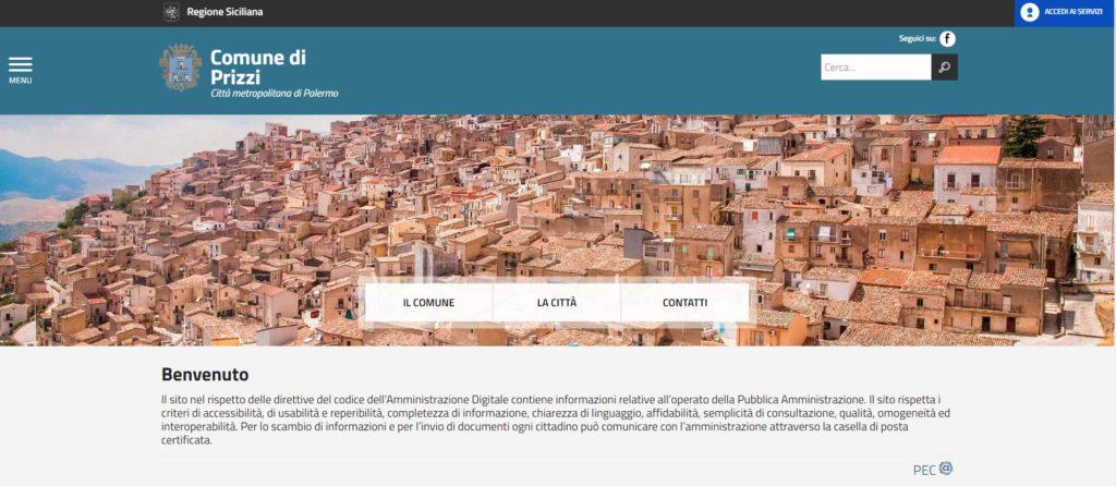 Homepage del Comune di Prizzi